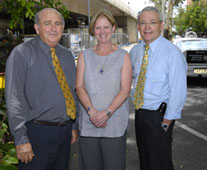 Gary Creedy (left) pictured with Construction Innovation's Lyn Pearson, Education and Training Officer, and CEO, Professor Keith Hampson