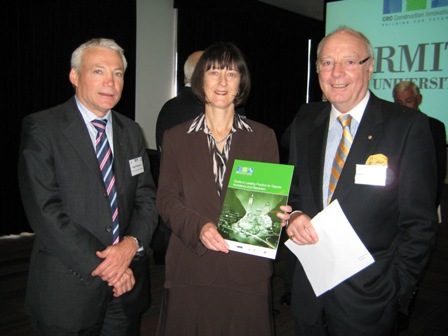 Keith Hampson, Lyn O'Connell and John V. McCarthy AO